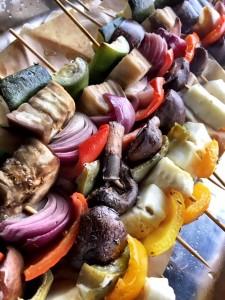Lanarkshire - veggie skewers